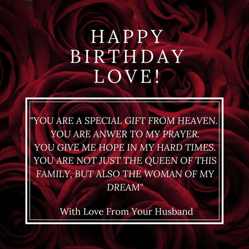 Birthday Wishes For Your Dear Wife, Life Partner