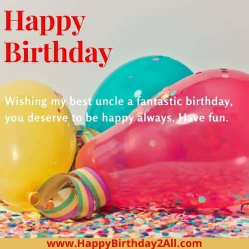 Happy Birthday wishes for dear uncle