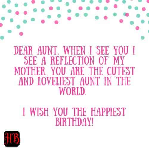 dear aunt happy birthday
