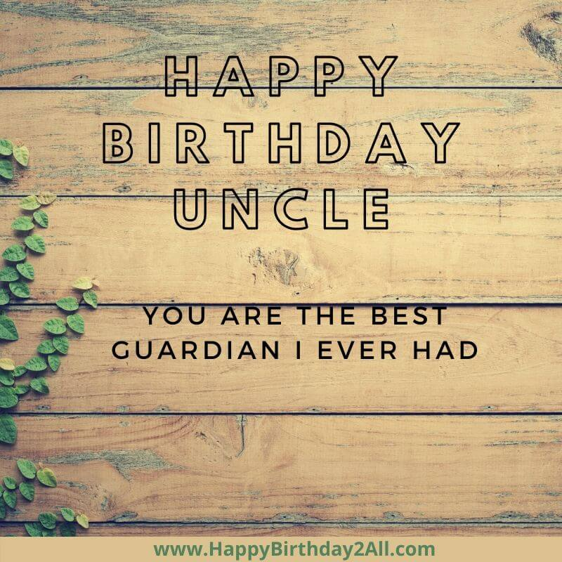 happy birthday greeting for UNCLE