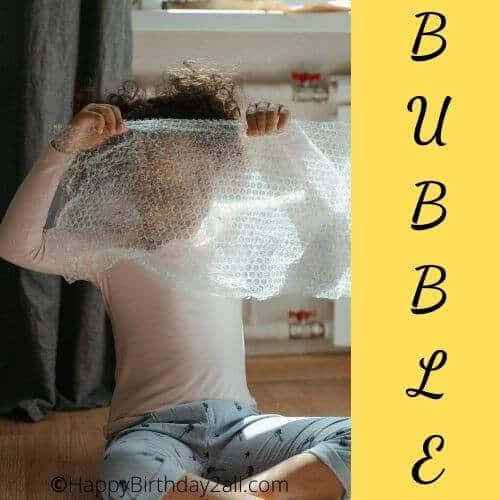 Bubble wrap race birthday game