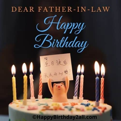 Happy Birthday dear father in law