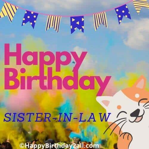 Happy Birthday greetings for sister in law
