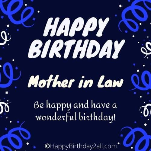 Happy Birthday my dear mother in law