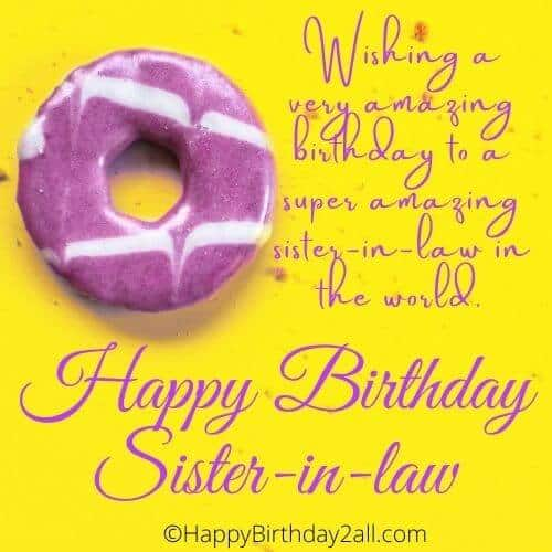 Happy Birthday wish for Sister-in-law