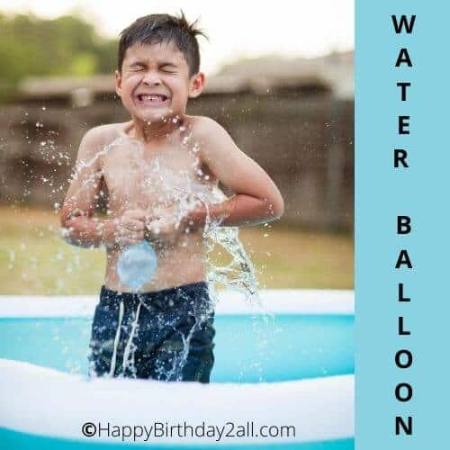 Water Balloon Toss birthday game