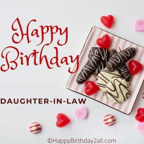Happy Birthday dear daughter-in-law
