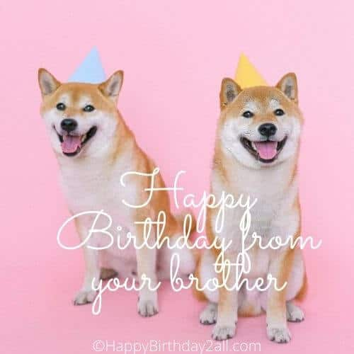 Happy Birthday from your brother