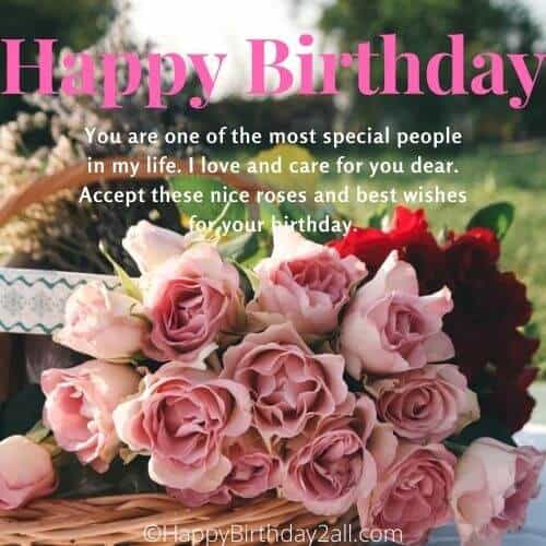 Happy Birthday to you with pink roses