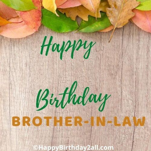 Happy Birthday wish for brother in law