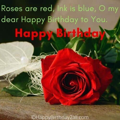 Happy Birthday wishes with rose