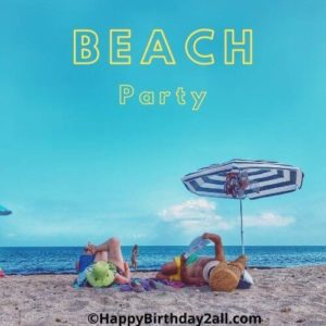 birthday party on beach