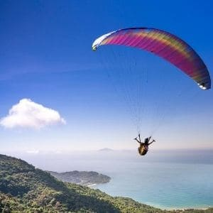 paragliding on birthday