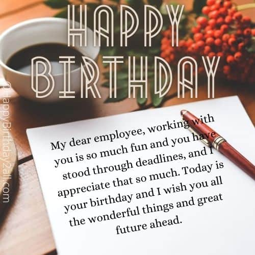 birthday messages for employee