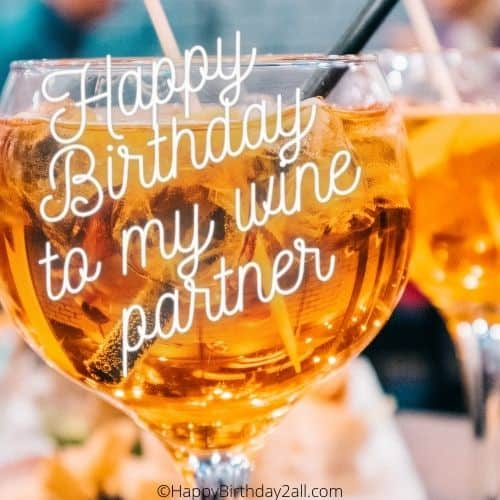 drink wine and celebrate birthday