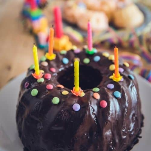 edible birthday candles with cake