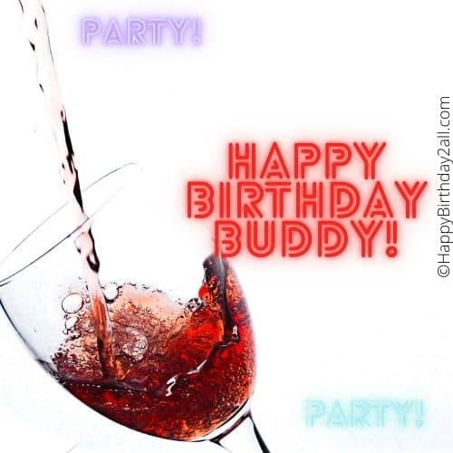 happy birthday and have some wine