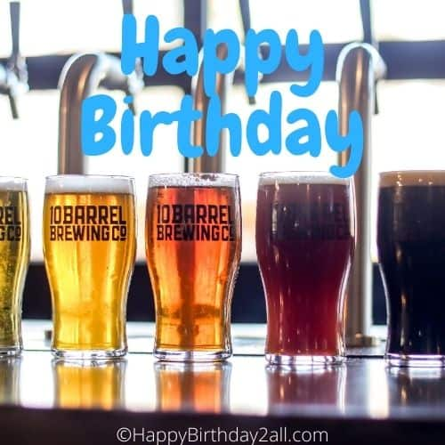 happy birthday beer image