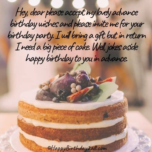 funny happy birthday in advance