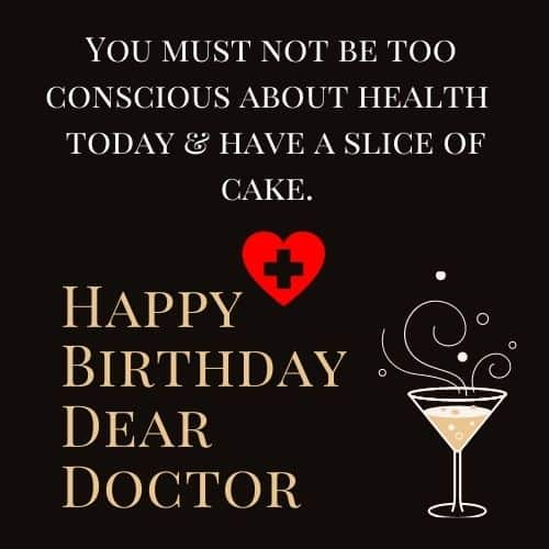 happy birthday wishes for doctor