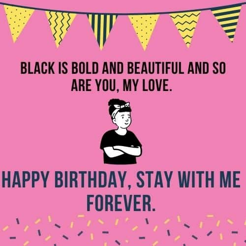 black is bold happy birthday
