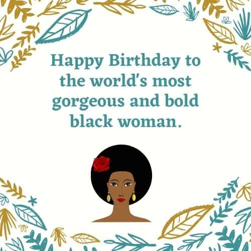 happy birthday gorgeous black woman