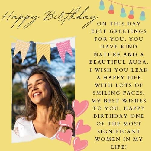 cute birthday wishes for women