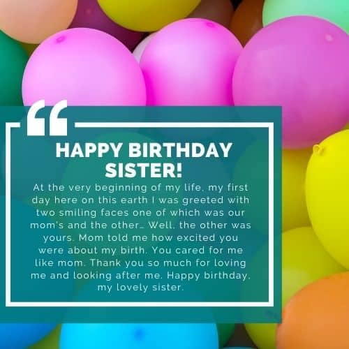 bday quote sister