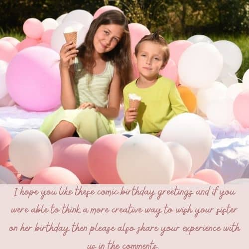 birthday message for dear sis