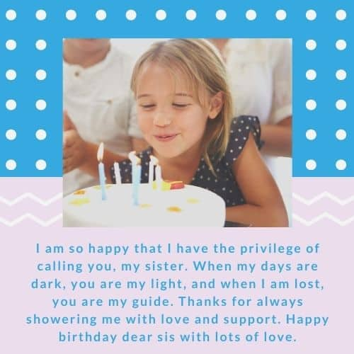 happy birthday message for sis