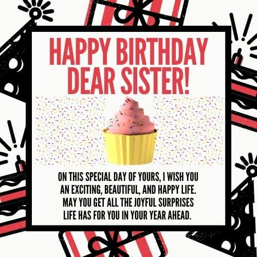happy birthday quotes for sister images