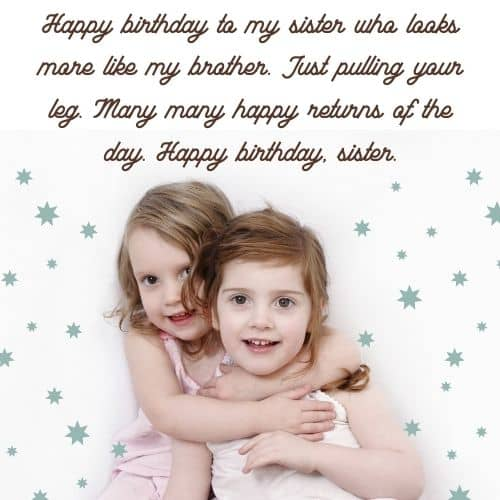 sister bday messages images