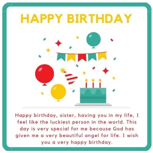 sister wish you a great birthday