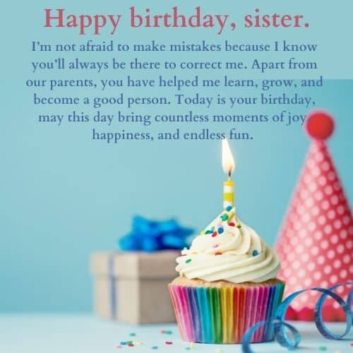 sweet bday wish for sister