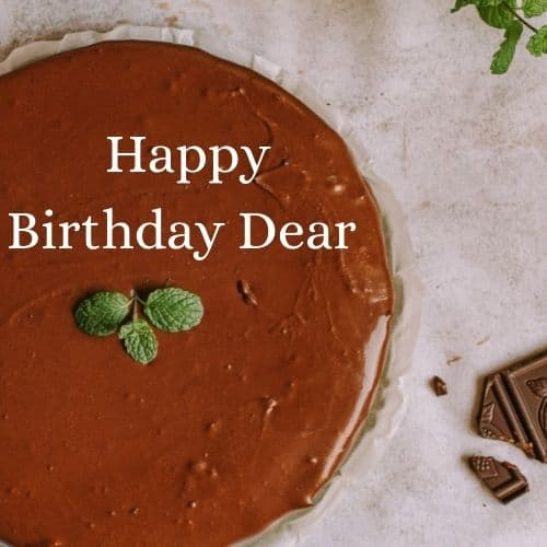 brown birthday cake with name
