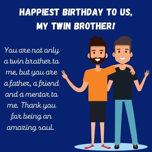 bday wishes for twin brothers