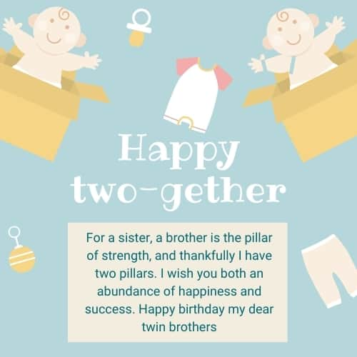 birthday greetings for twin brothers