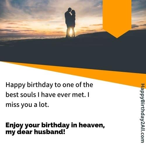 birthday messages for ded husband