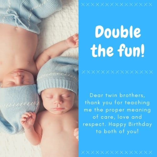 birthday messages for twin brothers