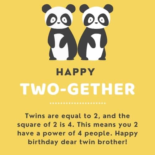 birthday quotes for twin brothers