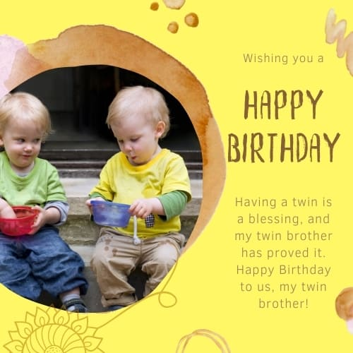 birthday sayings for twin brothers
