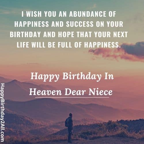 birthday wishes for dead niece