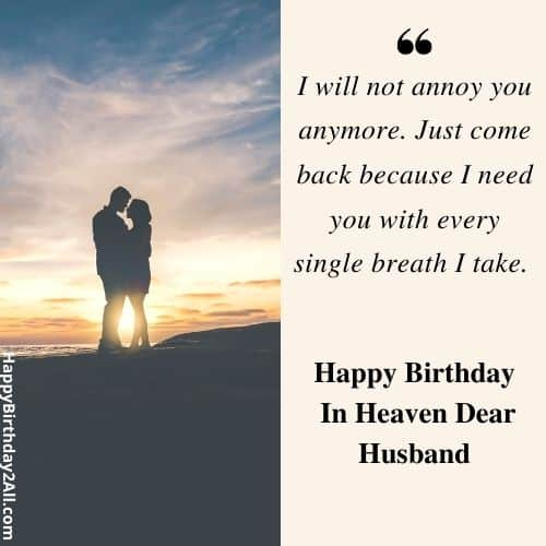 birthday wishes for deceased husband