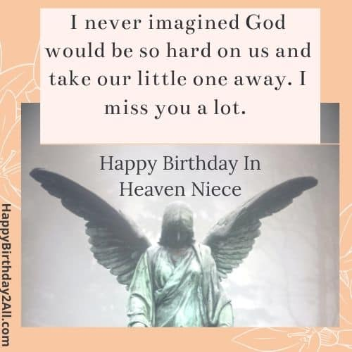 birthday wishes for deceased niece