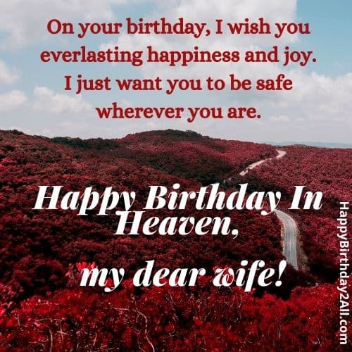 birthday wishes for deceased wife