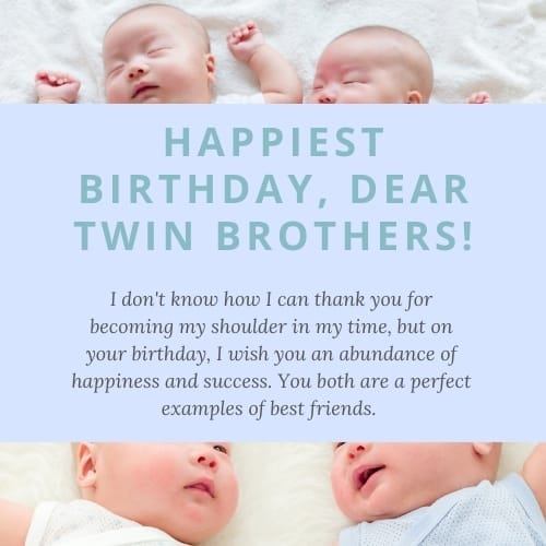 birthday wishes for twin bro