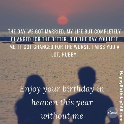 wishes for dead husbands birthday